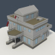 Low Poly Consulate Building - 3DOcean Item for Sale