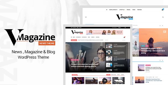 Vmagazine- Blog and Magazine WordPress Themes - News / Editorial Blog / Magazine