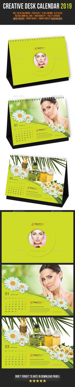 Creative Desk Calendar 2019 V09 - Calendars Stationery