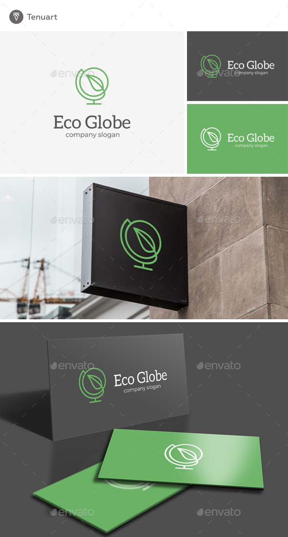 Eco Globe Logo - Nature Logo Templates