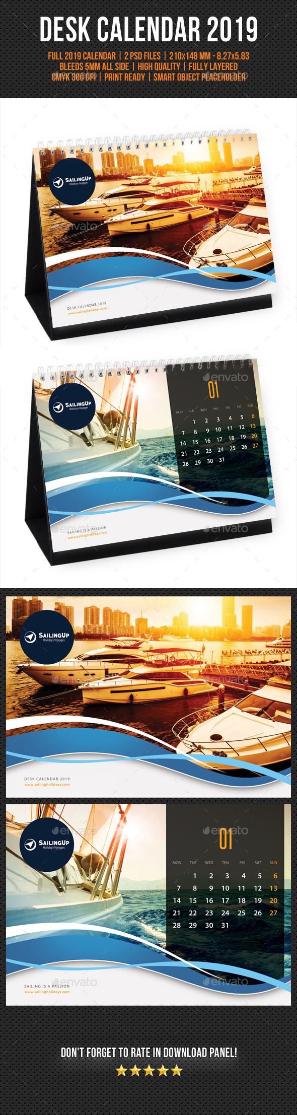 Creative Desk Calendar 2019 V08 - Calendars Stationery