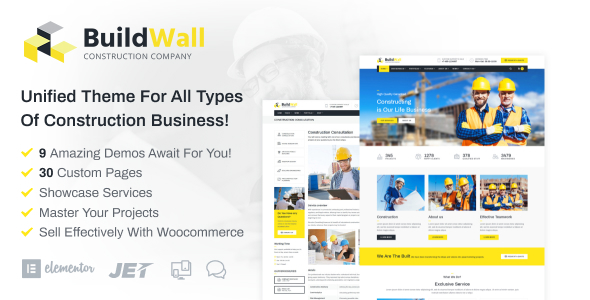 Image of BuildWall - Construction Company Elementor WordPress Theme