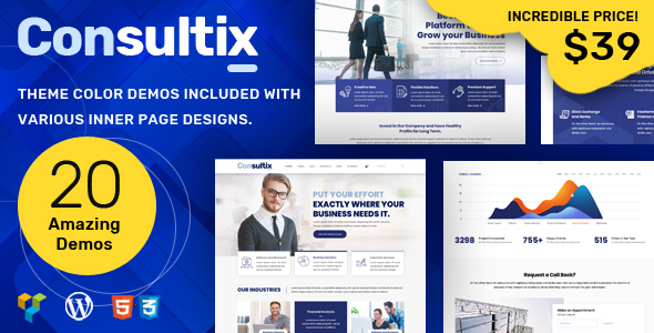 Image of Consultix - Business Consulting Theme for Business Agency