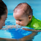 Mother with baby boy in the swimming pool on swimming class - PhotoDune Item for Sale
