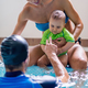 Mother with baby boy and instructor on swimming class - PhotoDune Item for Sale