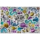 Doodle Cartoon Set of Sea Life Objects and Symbols