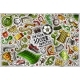Vector Doodle Cartoon Set of Soccer Objects - GraphicRiver Item for Sale