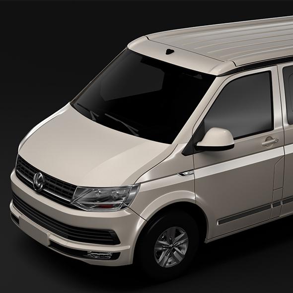VW California T6 2018 - 3DOcean Item for Sale