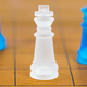 Chess glass on a wood chessboard_ - PhotoDune Item for Sale