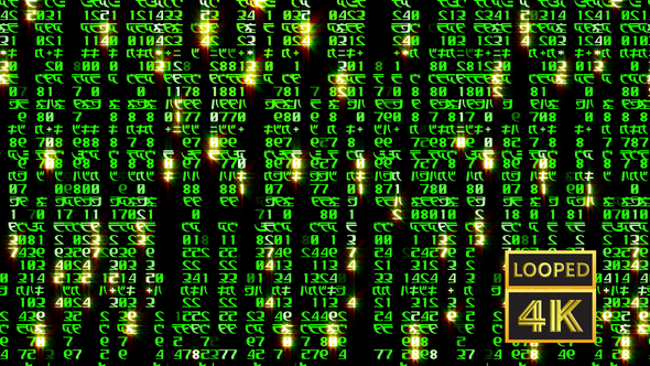 Matrix Code Based On Symbols By Vitacop Videohive