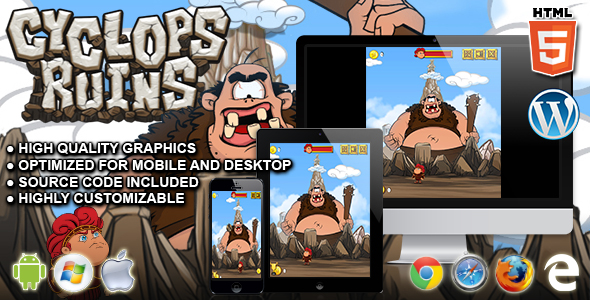 Cyclops Ruins - HTML5 Skill Game - CodeCanyon Item for Sale