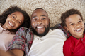 Point Of View Shot Of Father And Children Posing For Selfie - PhotoDune Item for Sale