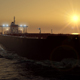 Oil Tanker on Sunset 4k - VideoHive Item for Sale