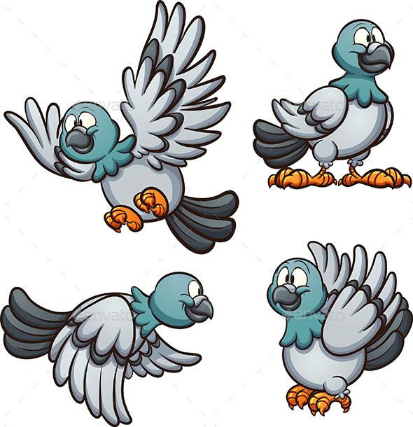 Cartoon Pigeon - Animals Characters