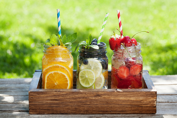 Fresh lemonade jar - Stock Photo - Images