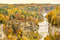 Autumn scene of waterfalls and gorge - PhotoDune Item for Sale