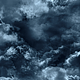 Flying Through Abstract Dark Clouds to Big Moon - VideoHive Item for Sale