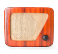 Old Wooden Radio Isolated with Clipping Path. - PhotoDune Item for Sale