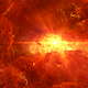 Flying Through Abstract Red Space Nebula to Brightly Shining Star - VideoHive Item for Sale
