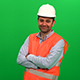 Engineer Worker Crossing His Arms and Smiling - VideoHive Item for Sale
