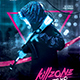 Synthwave Flyer v6 Cyberpunk Neon Retrowave Poster Template - GraphicRiver Item for Sale