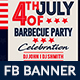 July BBQ Facebook Ad Banner