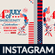4th of July BBQ Instagram-4 Design - GraphicRiver Item for Sale