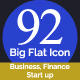 Business, Finance and Start up Big Flat Icon - GraphicRiver Item for Sale