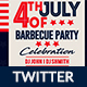 4th of July BBQ Twitter Header - GraphicRiver Item for Sale
