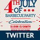 4th of July BBQ BBQ Twitter - GraphicRiver Item for Sale