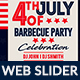 4th of July BBQ Web Slider - GraphicRiver Item for Sale