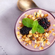 Blackberry smoothie with granola - PhotoDune Item for Sale