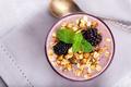 Blackberry smoothie with granola - PhotoDune Item for Sale