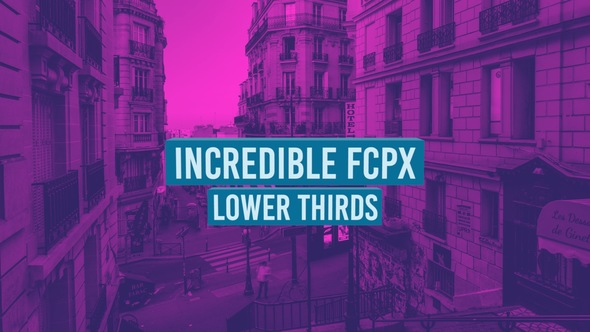 Videohive Incredible FCPX Lower Thirds 19294608 - Free download