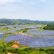 aerial view of hillside solar energy - PhotoDune Item for Sale