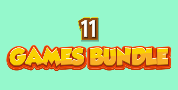 Bundle N°2 : 11 HTML5 GAMES (CAPX + HTML5) & MORE Than 85% OFF - CodeCanyon Item for Sale
