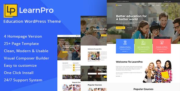 LearnPro - Education WordPress Theme - Education WordPress