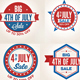 July 4th Sale Badges