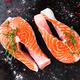 Salmon. Fresh salmon fish. Raw salmon fish steaks - PhotoDune Item for Sale