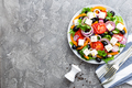 Greek salad. Fresh vegetable salad