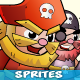 6 Pirates Game Character Sprites Set