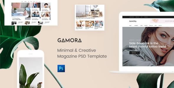 GAMORA - Creative Magazine PSD Template - PSD Templates
