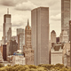 Sepia toned picture of the Manhattan skyline. - PhotoDune Item for Sale