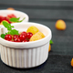 Healthy breakfast on white bowls. - PhotoDune Item for Sale
