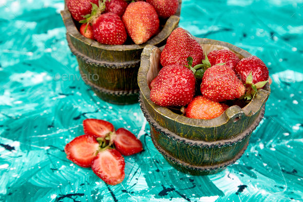 Strawberry in the bowls - Stock Photo - Images