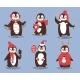 Christmas Penguin Vector Character Cartoon - GraphicRiver Item for Sale