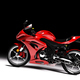 Side view of red sports motorcycle in a spotlight - PhotoDune Item for Sale