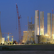 Power Station Construction Site At Night Panorama - PhotoDune Item for Sale