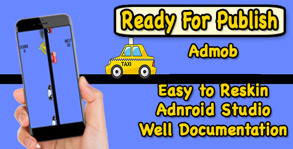 Mad Taxi Drive - Game For Kids - Endless Game - Android - CodeCanyon Item for Sale