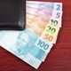 Money from Brazil in the black wallet  - PhotoDune Item for Sale